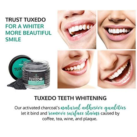geekshive tuxedo teeth whitening activated charcoal
