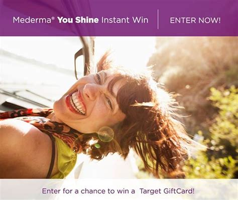 Mederma Instant Win - thrifty momma ramblings mederma you shine instant win game