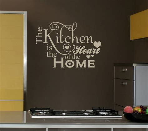 Wall Decor For The Kitchen Spoken Wall From The Wall Words Home Constructions