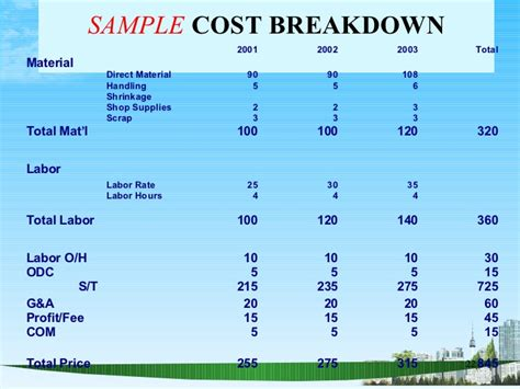 Cost Of Mba In 2003 by The Basics Of Cost Analysis Ppt Mba