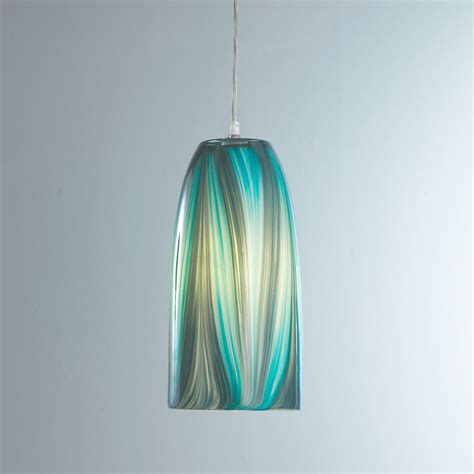 turquoise feather glass pendant light shades of light