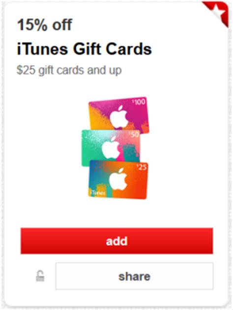 Target Apple Gift Card - apple itunes cartwheel offers online deals all things target