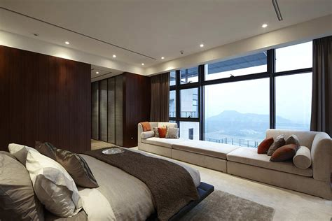 bedroom at luxury waterfront apartment interior design 华丽办公住宅室内设计