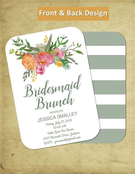 wedding lunch invitation sle 25 best ideas about bridesmaid luncheon on
