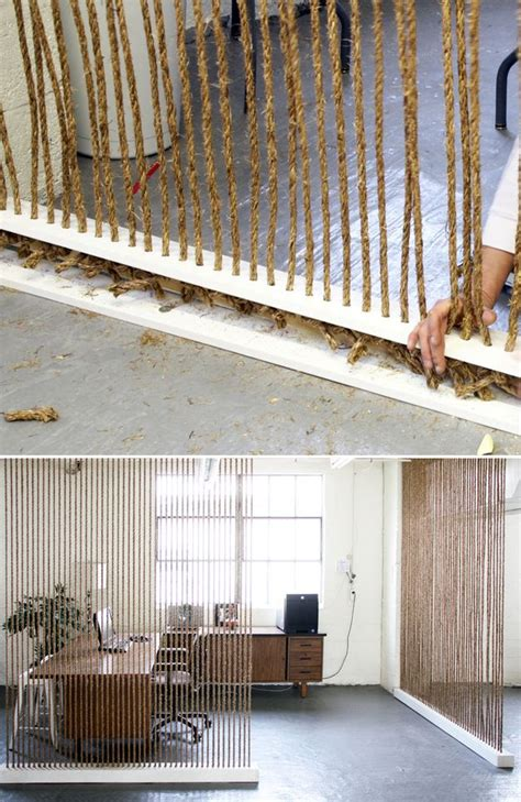 Rope Room Divider String Thick Rope From Floor To Ceiling 27 Ways To Maximize Space With Room Dividers