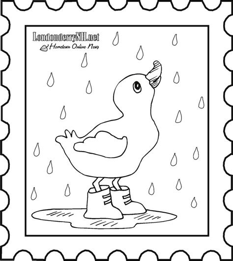 preschool coloring pages rain duck in the rain colouring page kindergarten