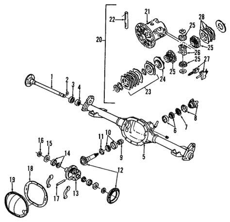 2000 gmc sonoma front differential parts diagram diagram auto wiring diagram oem 1995 gmc sonoma rear axle parts gmpartsonline net
