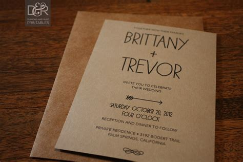 rustic wedding invitation templates rustic woodsy printable wedding invitation suite by