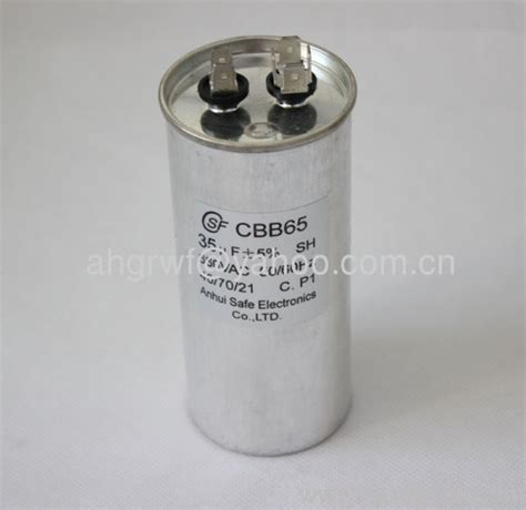 ac capacitor picture 35uf 660v cbb65 ac motor capacitor cbb65 manufacturer from china anhui safe electronics co ltd