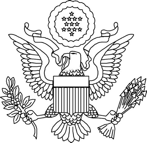 coloring book how great great seal of the united states coloring page coloring home