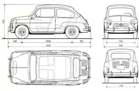 free blueprint fiat 600 blueprint download free blueprint for 3d modeling