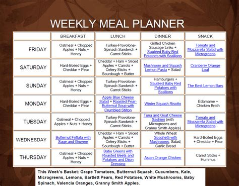 printable meal planning ideas 9 best images of printable weekly meal plan ideas meal