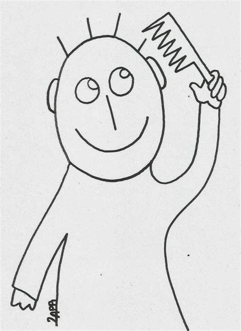 coloring pages of combing hair free coloring pages of brush and comb