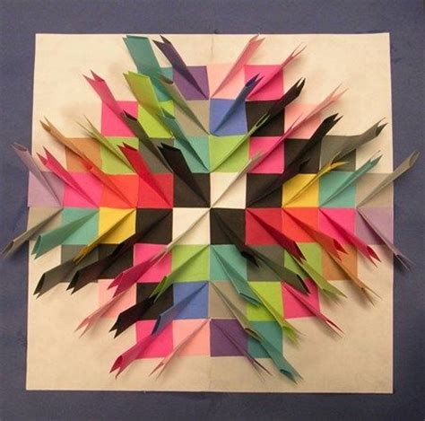 Cool Construction Paper Crafts - paper relief sculpture large white paper is cut 11 quot x 17
