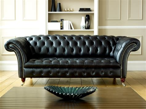 Chesterfield Sofa Leather Decoration Livingroom Advice Real Chesterfield Sofa