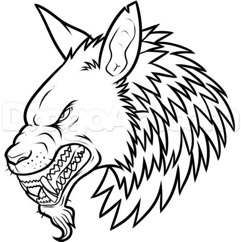werewolf head tutorial how to draw a werewolf head step by step werewolves