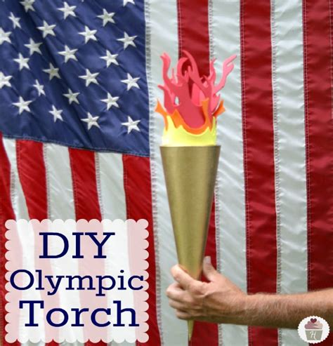 Handmade Torch - olympic cupcakes crafts and decorating hoosier