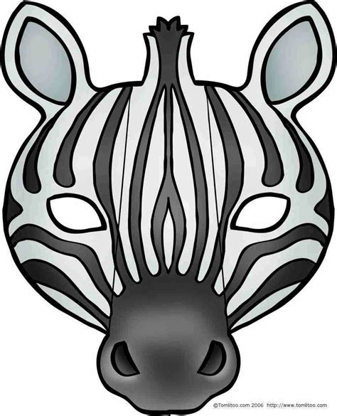 free printable zebra mask template animals free printable masks oh my fiesta in english