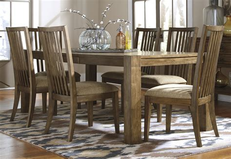 Buy Ashley Furniture Birnalla Rectangular Butterfly Furniture Dining Room Table Set