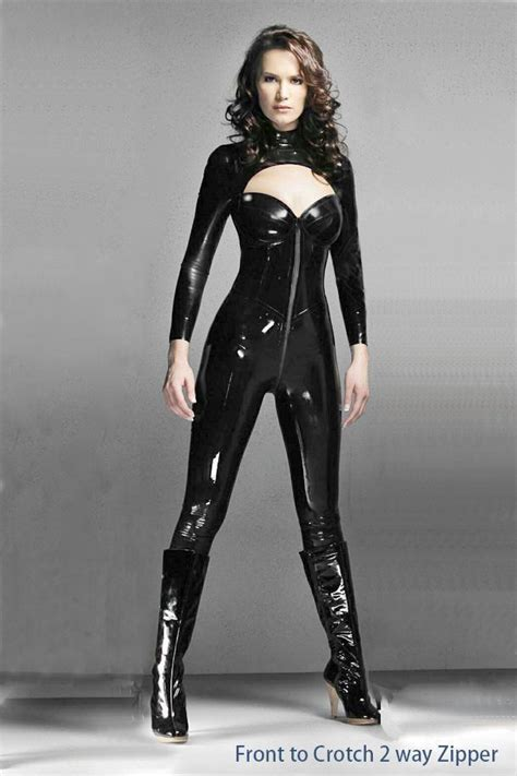 lade in pvc shiny pvc catsuit catsuit fancy dress