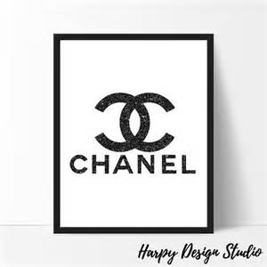 Create Your Own Chandelier Chanel Logo Fashion Coco Chanel Print Black Glitter Coco