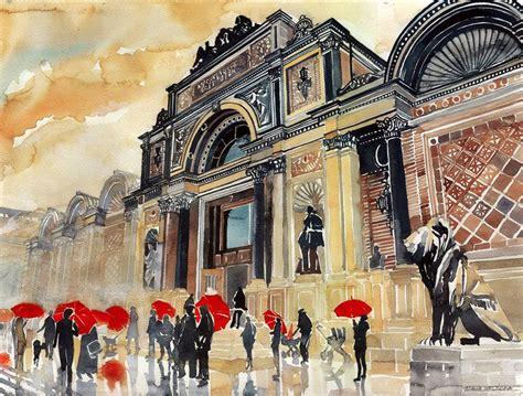 vibrant architectural watercolors by maja wronska colossal