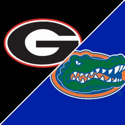 sec football: georgia bulldogs vs. florida gators box
