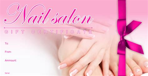 pedicure gift card template free nail salon gift certificate template awesome pedicure
