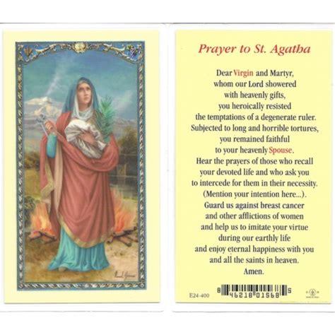 prayer to st st agatha prayer card the catholic company