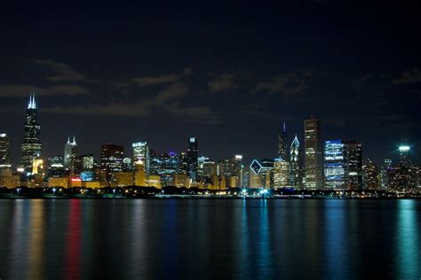 city of chicago light locations skyline view from adler planetarium pier things to do in