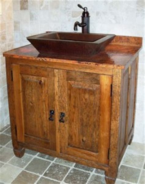bathroom vanities burlington copper bathroom vanities and copper sinks for a rustic old fashioned style