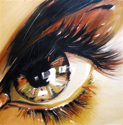 acrylic painting eye artwork with original