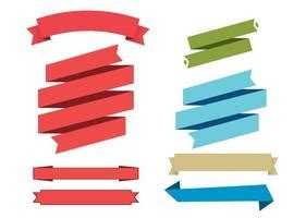 Set Ribbon Pita generic vector banners free vector stock graphics images