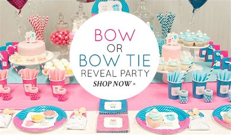 Gender Reveal Baby Shower Decorations by Beau Or Bow Gender Reveal Baby Shower Ideas And Shops