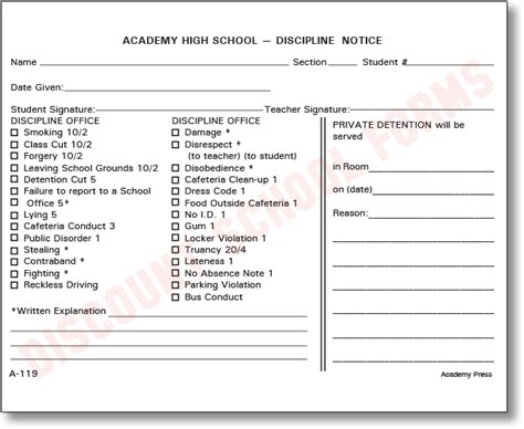 Demerit Card Template by Disciplinary Forms For Students Pictures To Pin On