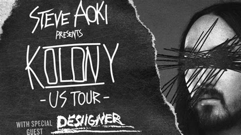 steve aoki tour steve aoki announces massive support for upcoming kolony