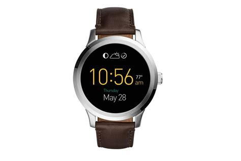 android wear smartwatch fossil reveals its android wear smartwatch the verge