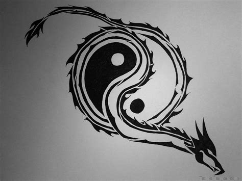 yin yang dragon wallpapers wallpaper cave