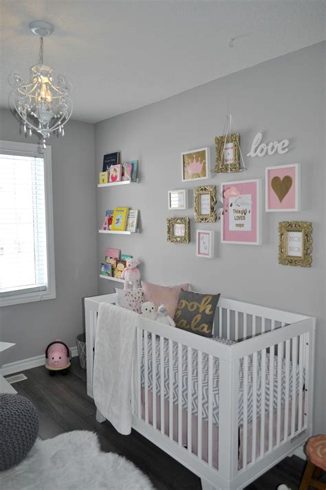 Chandelier Baby Mobile Aura S Pretty Nursery In Pink Gold And Gray The Little