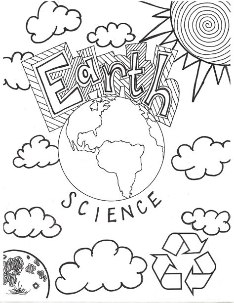 coloring pages for earth science earth science coloring page cover page middle school