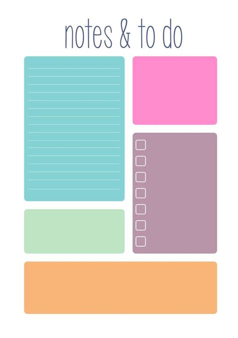 printable planner notes so joey creates filofax pretties coloured free notes