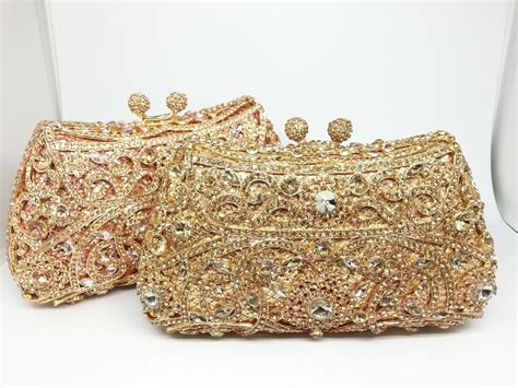 Handmade Clutches - gift box 12colors metal clutches bridal