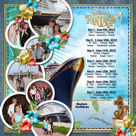 scrapbook layout ideas cruise 2012 disney fantasy title page mousescrappers disney