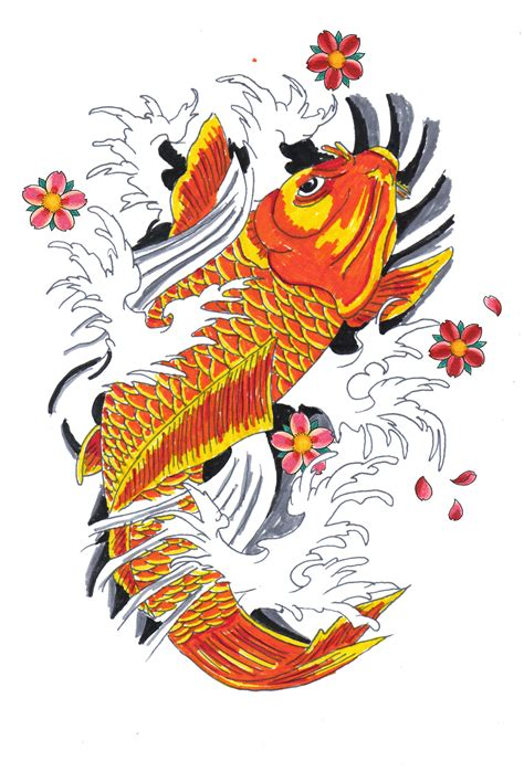 japanese koi fish tattoo design koi fish drawings designs of animal