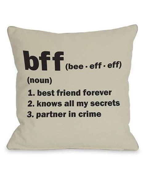 Pillow Is Best Friend bff pillow set of two zulilyfinds pillow set and crime