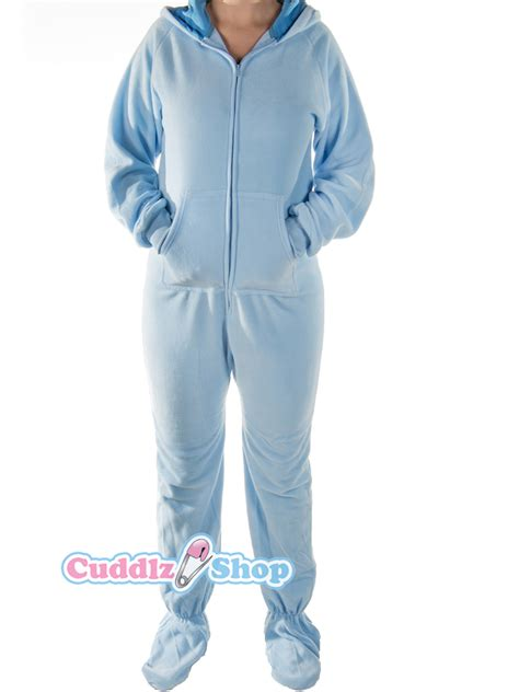 footed onesies baby blue onesie for adults with baby footed sleeper abdl onesies with cuddlz