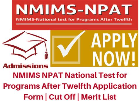 Nmims Application Form 2017 Mba by Nmims Npat Aptitude Test 2017 Application Form Cut
