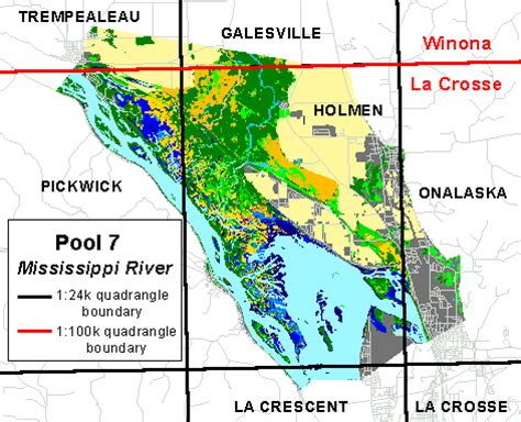 map louisiana dams gis data pool 7 mississippi river