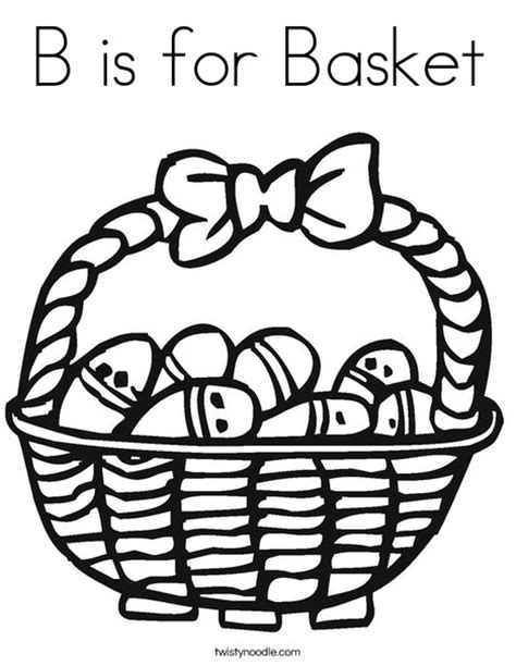 coloring pages for easter basket b is for basket coloring page twisty noodle
