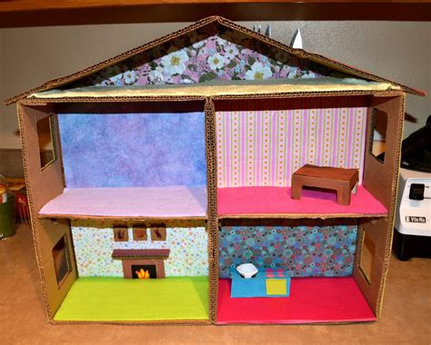 box doll house made out of cardboard box doll house made free engine image for user manual download